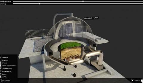Dome de l'ecotron unity 3D