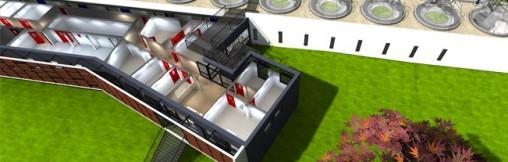immobilier 3D vue dessus coupe