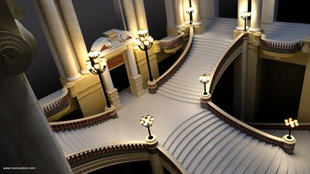 opera garnier de paris 3D 06