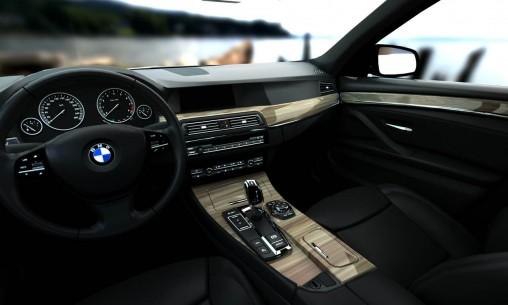 Rendus 3D d'une BMW Série 5: cuirs et bois