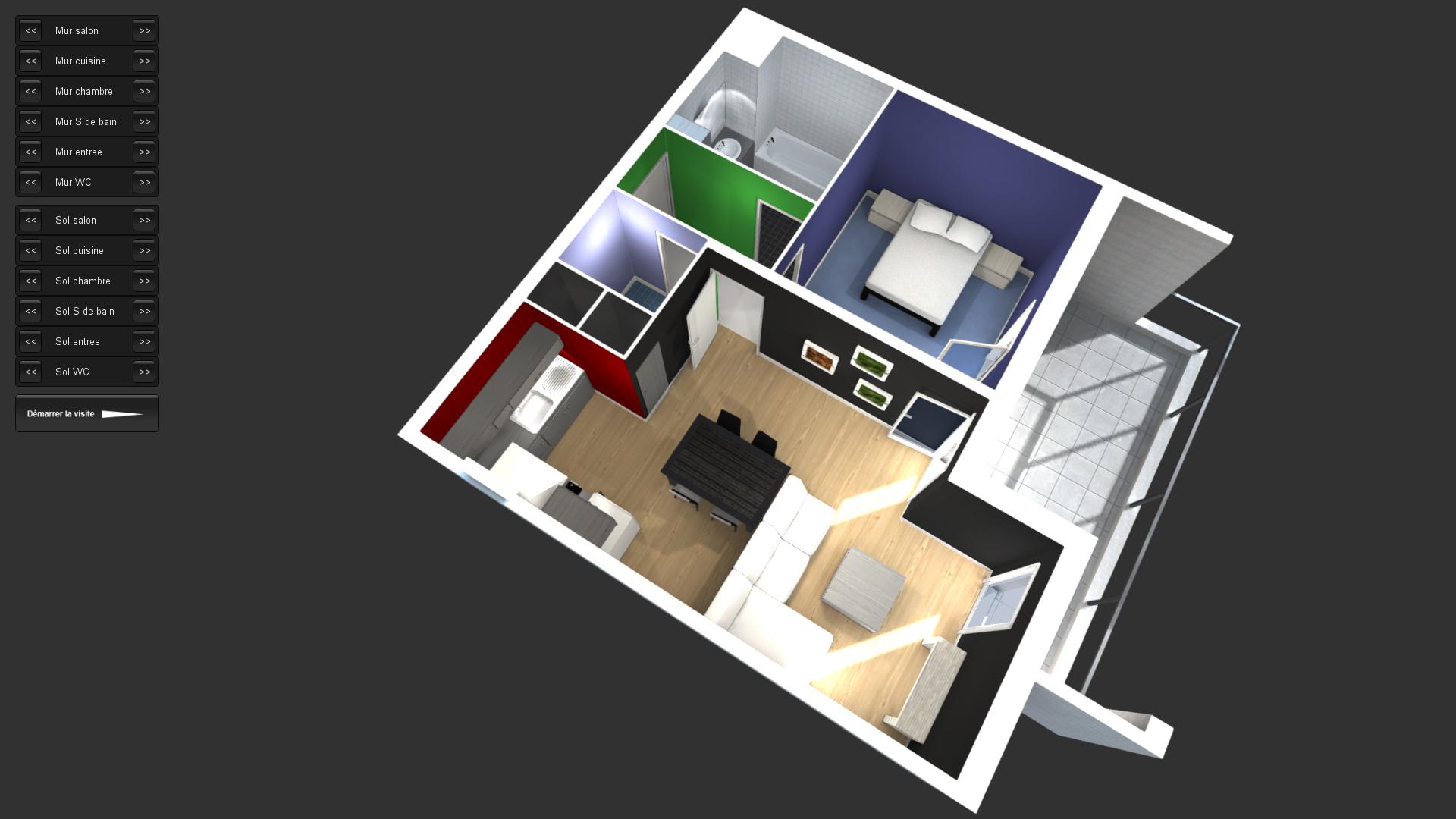 Visite 3D d'un appartement