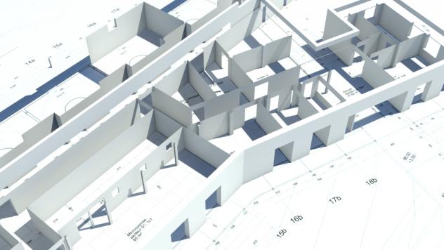 murs 3D et plans extrusion