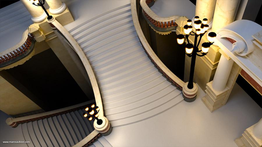 Opera Garnier: salle du grand escalier