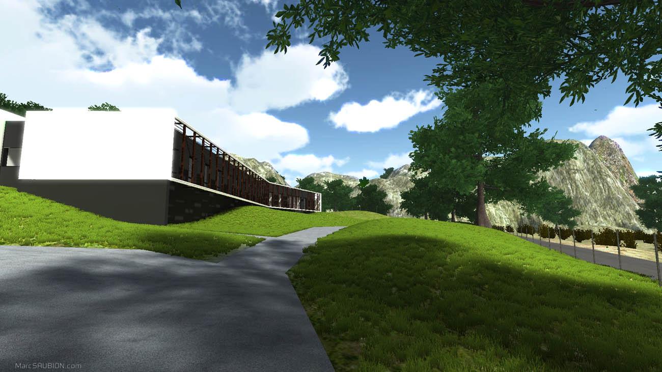 Visite Virtuelle 3D de l'Ecotron | projet immobilier