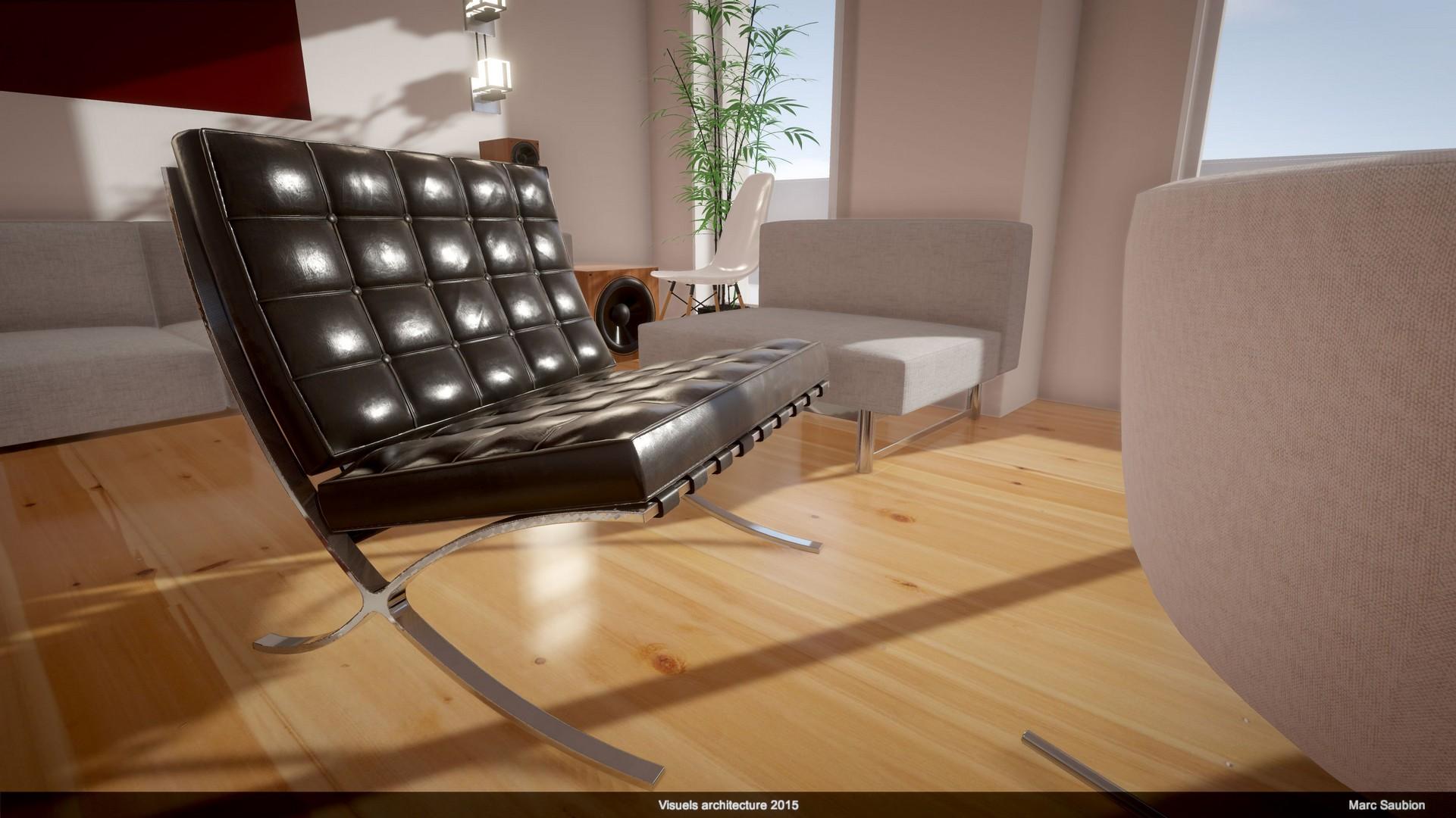 Barcelona chair: modèle 3D