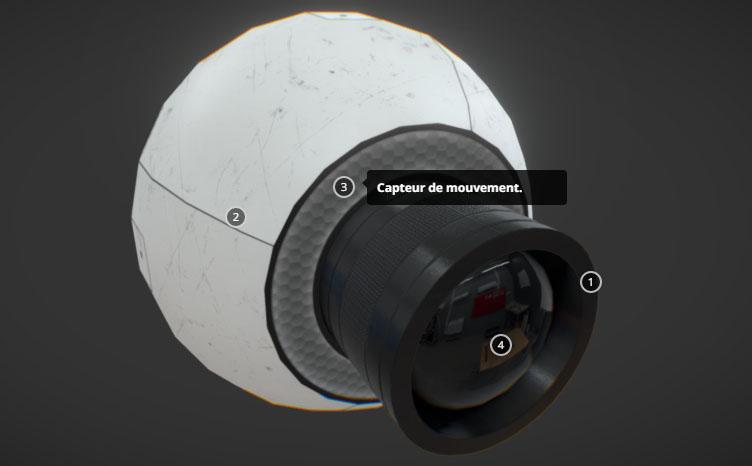 Visualisation interactive d'objets 3D dans une page web via WebGL et HTML5.